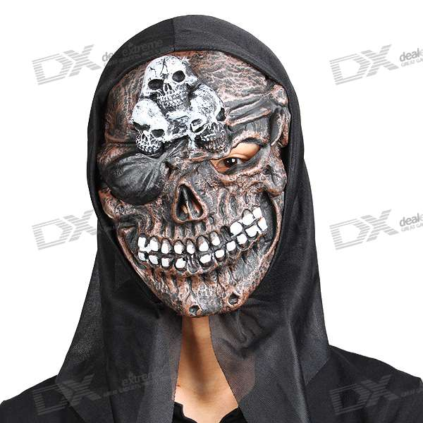 Cheap Halloween Scary Devil Mask With Skeletons On The