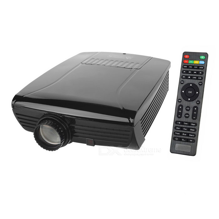 SV-600 1080p HDMI multimedia LED-home theater projector w / 3D - zwart