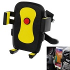 360 Degree Angle Rotating Portable Car Air Vent Mount Holder for Mobile Phones - Yellow + Black