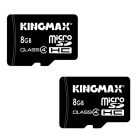Kingmax Micro SD Class 4 8GB TF Card SDHC Memory Card (2 PCS)