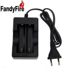 FandyFire EU Plug 18650 Battery Charger Double Slot Seat Cable Charger