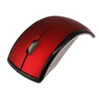 Foldable Mouse 2.4 G Wireless Optical Mouse - Red + Silver