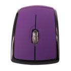 Foldable 2.4G Wireless Optical Mouse - Purple + Silver