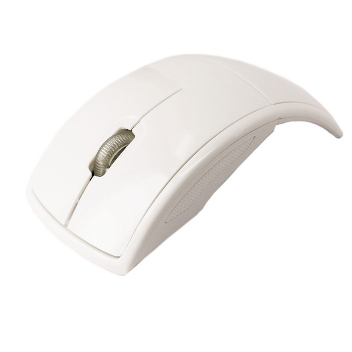Foldable 2.4G Wireless Optical Mouse - White