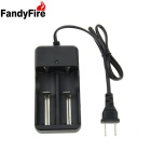 FandyFire Lithium-Ion Battery Charger US Universal Charger - Black + Silver