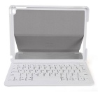 B.O.W HB115 Magnetic Power On/Off Bluetooth Keyboard w/ Leather Case for IPAD AIR 2 - Green + White