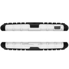 TPU + PC Armor Back Case w/ Stand for Sony Xperia E4 - White + Black