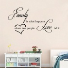 Family is What English Words & Quotes PVC Wall Stickers Decals - Black
