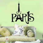 Paris Tower  Wall Decals PVC Wall Stickers - Black