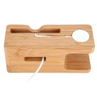 Bamboo Charging Stand Support Holder for Apple Watch IPHONE All Brands - Wood Color