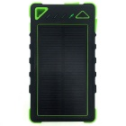 8000mAh Dustproof Shockproof Waterproof Li-polymer Battery Solar Charger External Bank