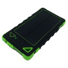 Shockproof Waterproof 8000mAh Solar External Power Bank - Blue + Black