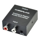 CHEERLINK Analog to Digital Audio Convertor w/ Toslink / Coaxial Interface - Black + Silver