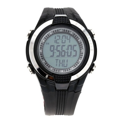 Waterproof Wireless Heart Rate Monitoring / Calorie Pedometer - Black