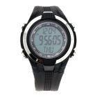 Waterproof Wireless Heart Rate Monitoring / Exercise Calorie Pedometer -  Black