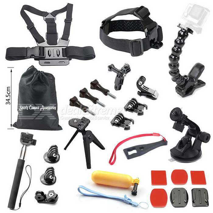 25-in-1 Hot Outdoor Sports Camera Accessories Kit for GoPro, 4 Session