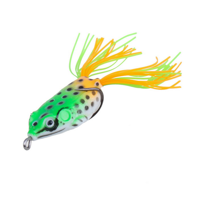 5g Small Size Ray Frog Style Soft Plastic Fishing Lure Bait - Green