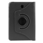 ENKAY 360' Rotation PU Case w/ Stand for Samsung Tab S2 T715 - Black
