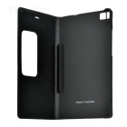 Flip Open Protective PU Case w/ Visual Window for Huawei P8 - Black
