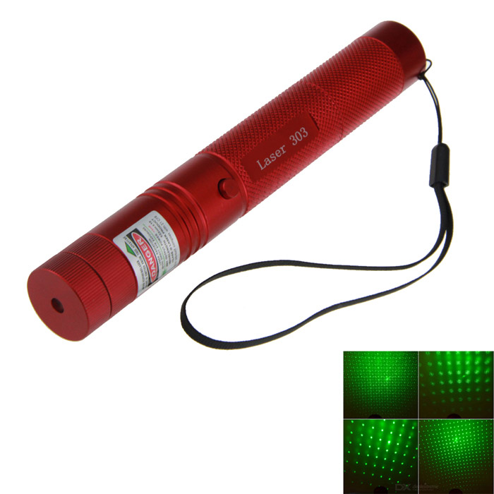 5mW 532nm Green Starry Laser Pointer - Red (1*18650)