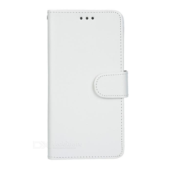 Flip-Open PU Case w/ Card Slots & Stand for Samsung Note 5 - White