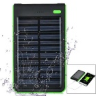 3W 1A 8000mAh Solar Power Charging Bank - Green + Black