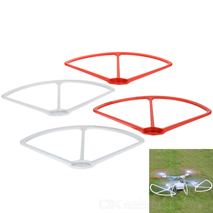 Cwxuan Blade Guards Covers Bumpers Set voor DJI Phantom 3-White + rood