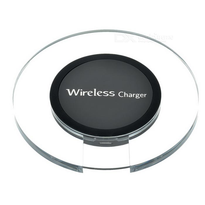 Transparent Qi Wireless Charger for Samsung S6 / S6 Edge - Black(SKU 406289)