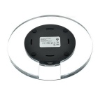 Transparent Qi Wireless Charger for Samsung S6 / S6 Edge - Black