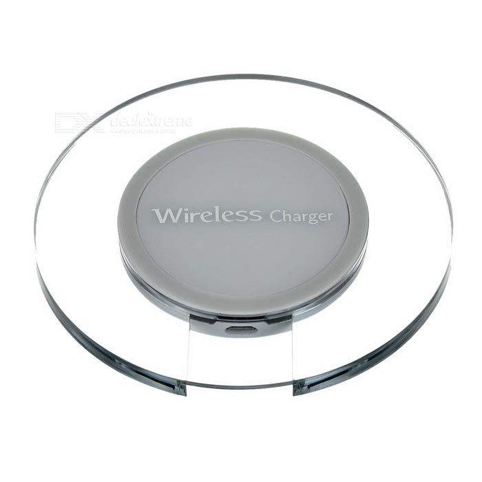 Transparent Qi Wireless Charger for Samsung S6 / S6 Edge - White