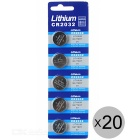 CR2032 3V Lithium Manganese Button Cell Batteries (100 PCS)