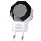 Cwxuan 5V Dual USB EU Plug Power Charger - Black + White