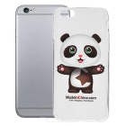 Panda Pattern Protective TPU Back Case for IPHONE 6 - White + Transparent