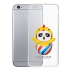 Cute Baby Panda Pattern Protective TPU Back Case for IPHONE 6 PLUS - Yellow + Transparent