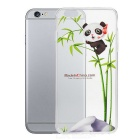 Panda On Bamboo Pattern Protective TPU Back Case for IPHONE 6 PLUS - Green + Transparent