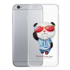 Cool Panda Pattern Protective TPU Back Case for IPHONE 6 PLUS - White + Transparent