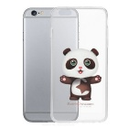 Panda Pattern Protective TPU Back Case for IPHONE 6 PLUS - White + Transparent
