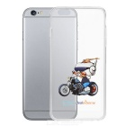 DXman Style Motorcycle Pattern Protective TPU Back Case Cover for IPHONE 6 PLUS -Transparent