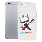 DXman Style Guitar Pattern Protective TPU Back Case Cover for IPHONE 6 - White + Transparent