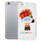 DXman Style  Protective Soft TPU Back Case Cover for IPHONE 6 - White + Transparent + Multicolor