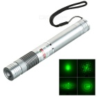 5mW Green 532nm Laser Pen w/ Adapters + US Plug Power Adapter - Silvery Grey (1 x 18650)