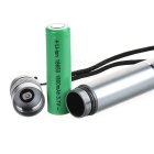 5mW Green Laser Pen w/ Adapters + US Plugss Power Adapter - Silvery Grey