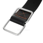 Men's Stylish Canvas Belt w/ Dual Ring Buckle - Black