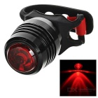 USB 4-Mode Red Light Bike Taillight / Warning Light - Red + Black