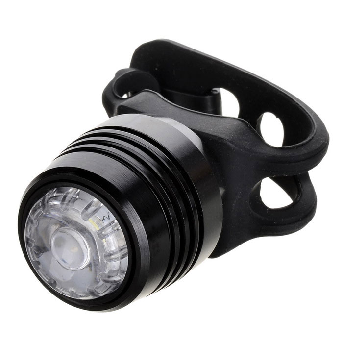 USB 4-Mode Cold White Light Bike Taillight / Warning Light - Black