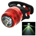 USB Powered 3-Mode Cool White Light Bike Taillight / Warning Light - Red + Transparent