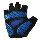 INBIKE Men's Shock-Absorbing Anti-Slip Half-Finger Gloves - Blue (L)