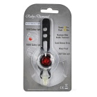 FJQXZ LED 3-Mode Red White Bike Helmet / Taillight Lamp - Silver + Red