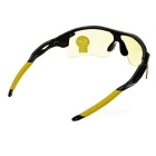 OULAIOU UV400 Plastic Frame PC Lens Sunglasses - Black + Yellow