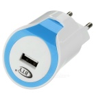 BTY M-512 Universal EU Plug Single-Port USB Smart Charger - White+Blue